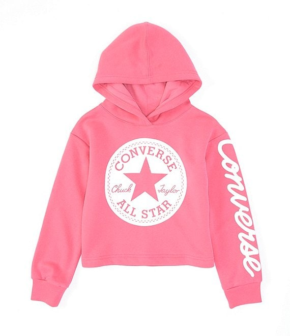 Converse Big Girls 7 16Chuck Patch Core Cropped Hoodie