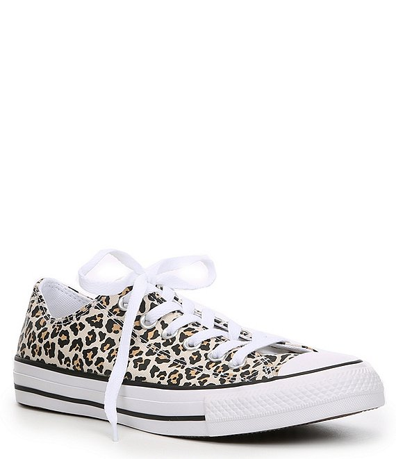 Color:Multi - Image 1 - Women's Chuck Taylor All Star Leopard Print Sneakers