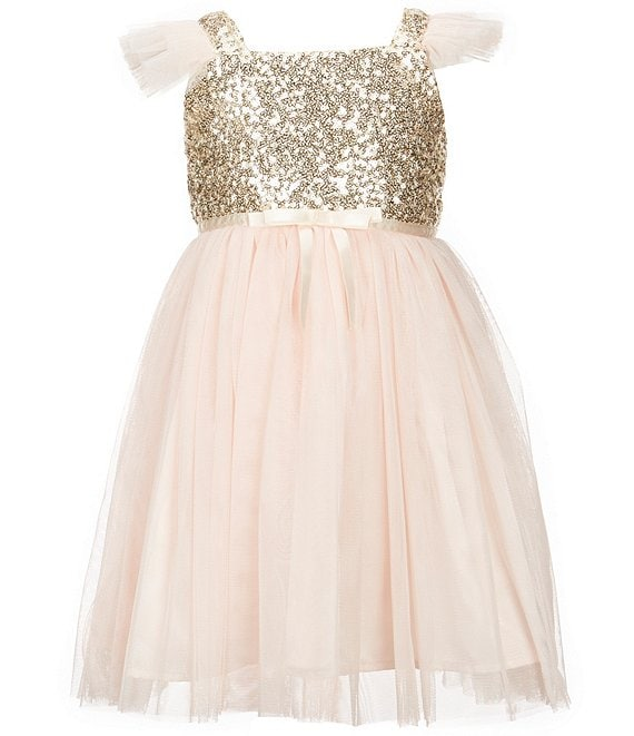 9b9887ff Popatu Little Girls 2-8 Sequin Tulle Dress | Dillard's