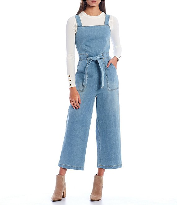Color:In Indigo - Image 1 - Sleeveless Tie Waist Jumpsuit