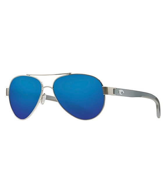 Color:Brushed Silver Blue Glass Mirror - Image 1 - Loreto Ocearch Polarized Sunglasses