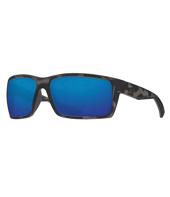 Color:Matte Tiger Shark Blue Mirror - Image 1 - Reefton Ocearch Polarized Sunglasses
