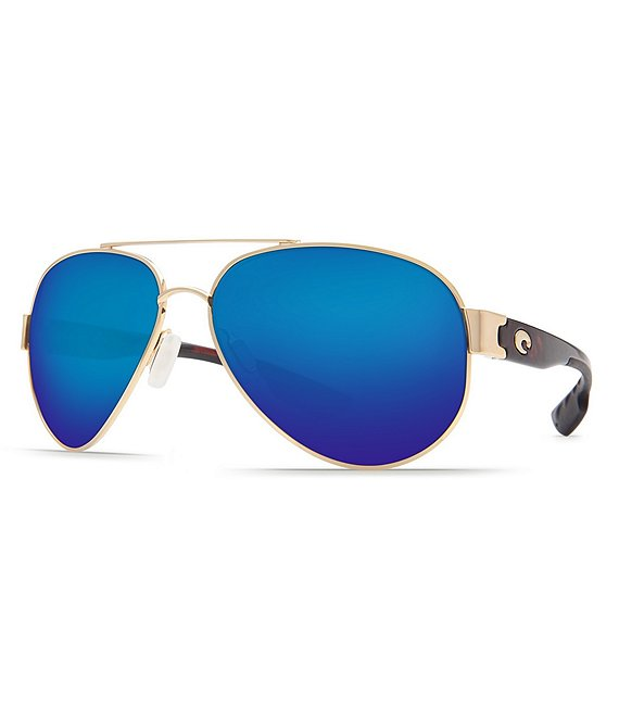 Color:Gold - Image 1 - South Point Polarized Plastic Lens Sunglasses
