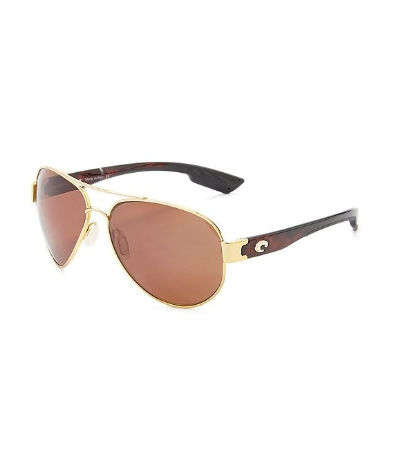 Color:Gold - Image 1 - South Point Polarized UVA/UVB Protection Double Bridge Aviator Sunglasses
