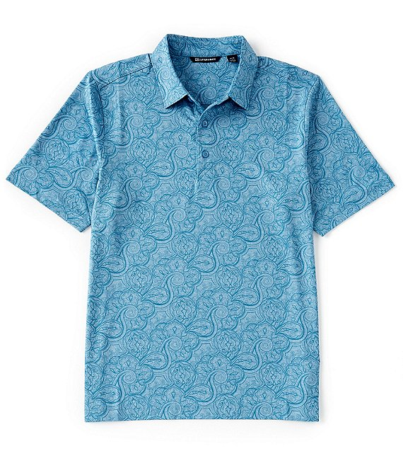 Color:Chambers Heather - Image 1 - Forge Paisley Heather Short-Sleeve Polo