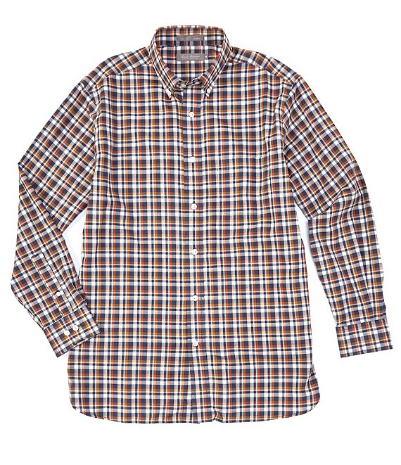 Daniel Cremieux Signature Twill Plaid Long-Sleeve Woven Shirt