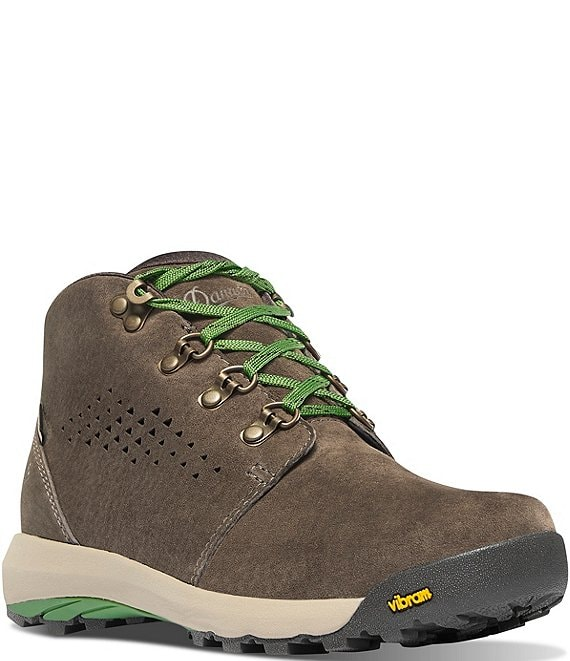 Color:Brown/Cactus - Image 1 - Women's Inquire Chukka Waterproof Suede Hiking Boots