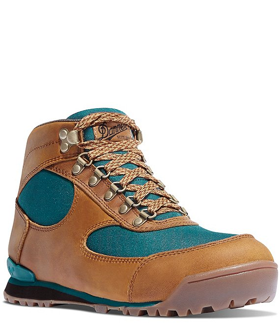 Color:Brown/Deep Teal - Image 1 - Women's Jag Waterproof Lace-Up Leather Hiking Boots