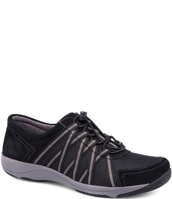 Color:Black/Black - Image 1 - Honor Suede and Mesh Sneakers