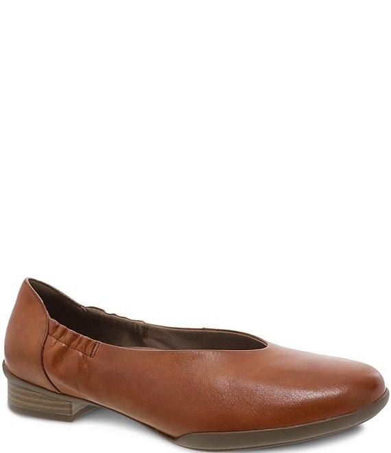 Color:Luggage Aniline Calf - Image 1 - Kira Leather Slip On Loafers