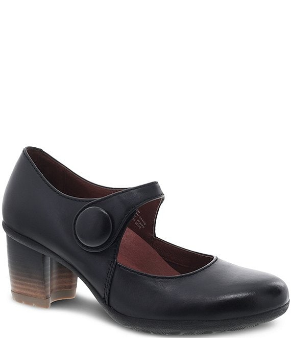 Dansko Page Waterproof Leather Block Heel Mary Janes