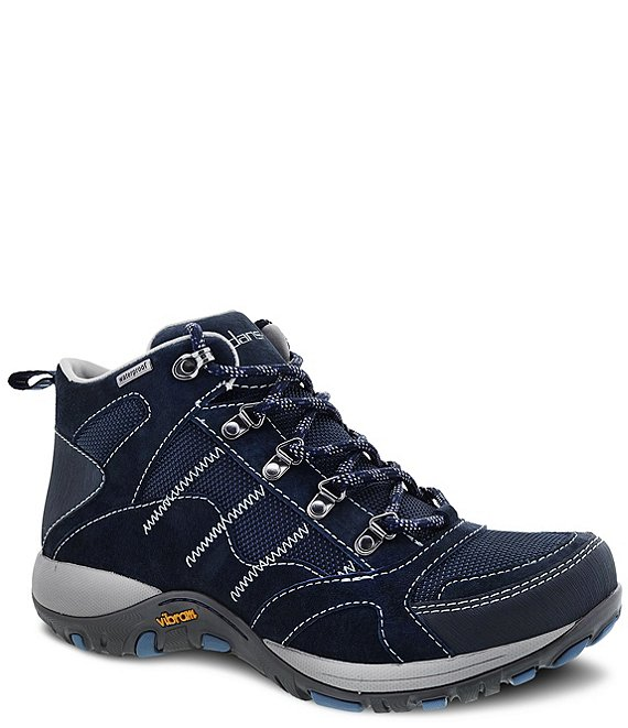 Color:Navy Suede - Image 1 - Paxton Waterproof Suede Hiker Sneaker Booties