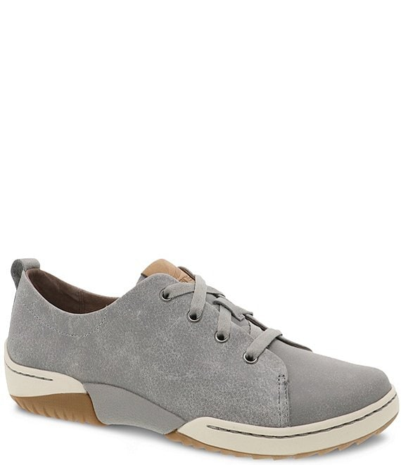 Color:Grey Vintage Nappa - Image 1 - Renae Nappa Leather Oxford Sneakers