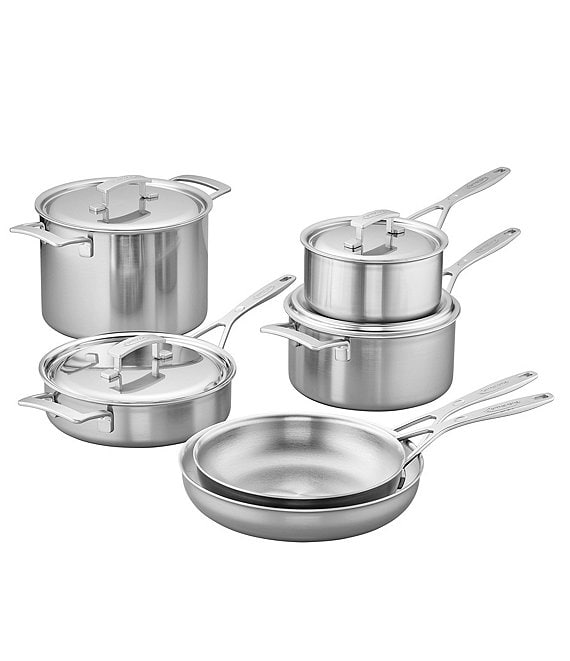 Demeyere Industry 10-Piece Stainless Steel Cookware Set