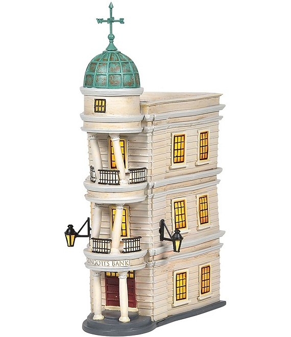 Department 56 Harry Potter Gringotts Bank Lit Building