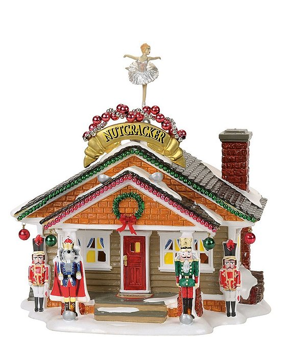Department 56 Snow Village Christmas Lane Animated Nutcracker House