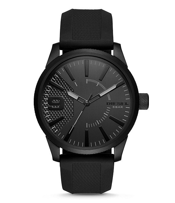 Diesel DZ1807 Total Black Silicone Watch
