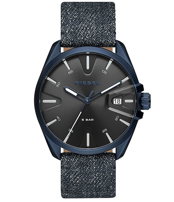 Color:Blue - Image 1 - MS9 Three-Hand Denim Watch