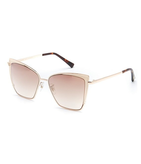 Color:Gold/Brown - Image 1 - Becky Polarized Gradient Cat Eye Sunglasses
