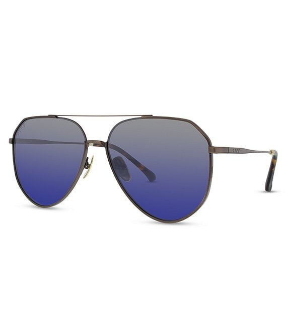 Color:Brown/Blue - Image 1 - Dash Polarized Aviator Sunglasses