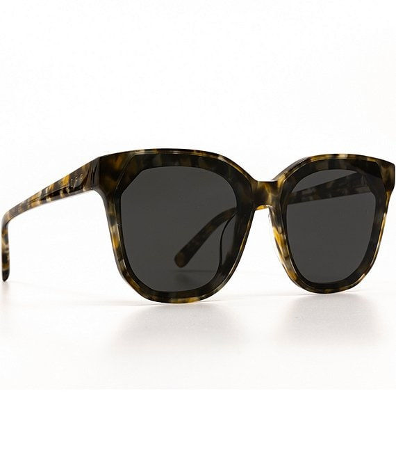 Color:Tortoise - Image 1 - Gia Oversized Square Sunglasses