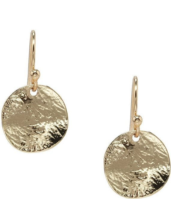 Dillard's Tailored Small Textured Disc Earrings