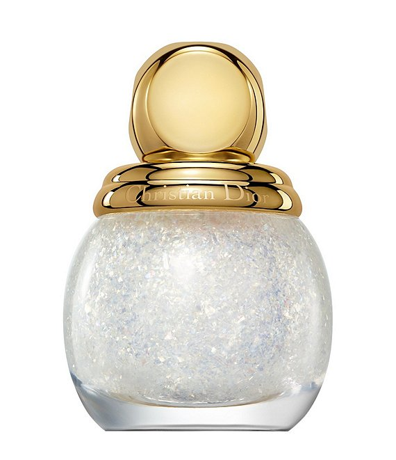Color:001 Golden Snow - Image 1 - Diorific Vernis Top Coat Golden Nights Collection Limited Edition Glitter Nail Lacquer