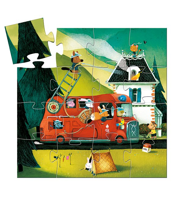 Color:Multi - Image 1 - Fire Truck Puzzle