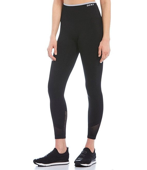 Color:Black - Image 1 - High Waist 7/8 Seamless Legging