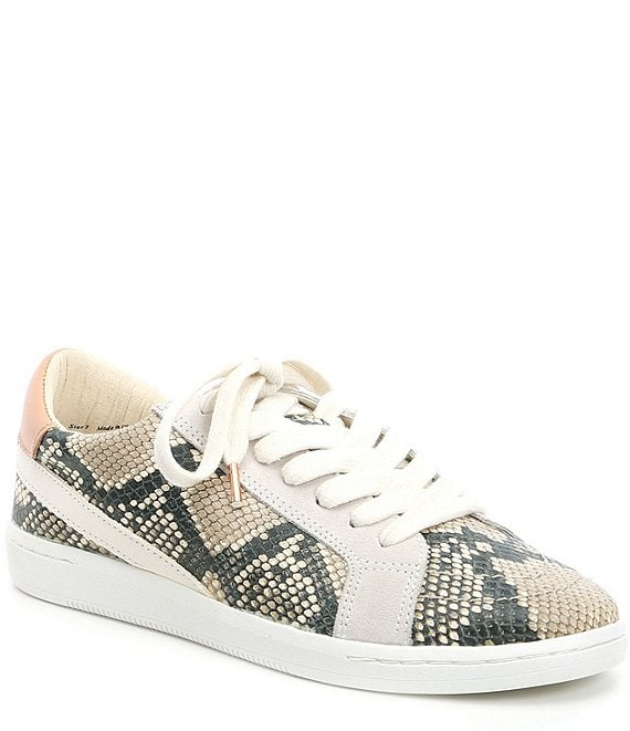 Dolce Vita Nino Snake Embossed Leather Sneakers