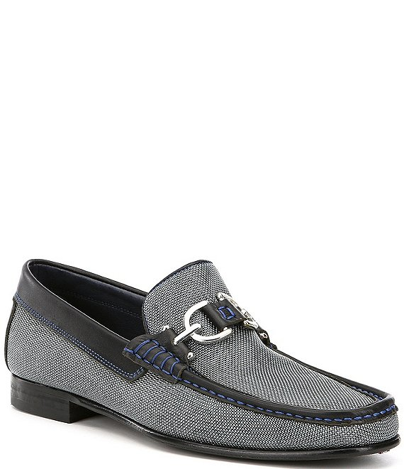 Color:Lead - Image 1 - Men's Dacio Decorative Hardware Detail Loafers