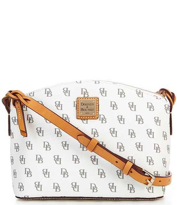Color:Bone - Image 1 - Blakely Collection Penny Signature Crossbody Bag