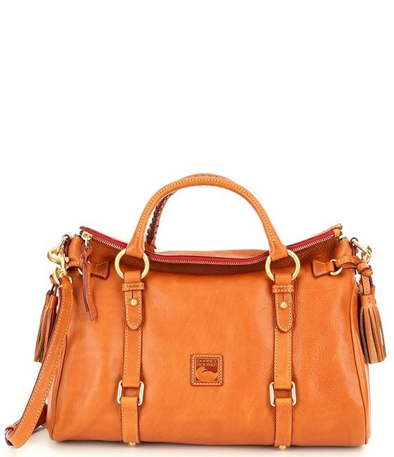 Dooney & Bourke Florentine Leather Tasseled Satchel