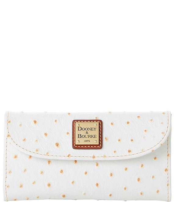 Dooney & Bourke Ostrich Collection Continental Clutch Wallet