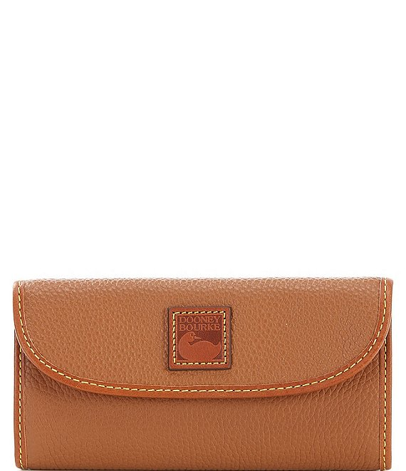 Color:Caramel - Image 1 - Pebble Collection Continental Clutch