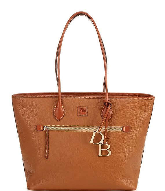 Color:Caramel - Image 1 - Pebble Collection Large Tote Bag