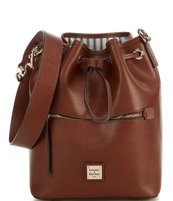 Dooney & Bourke Saffiano Collection Drawstring Bucket Bag