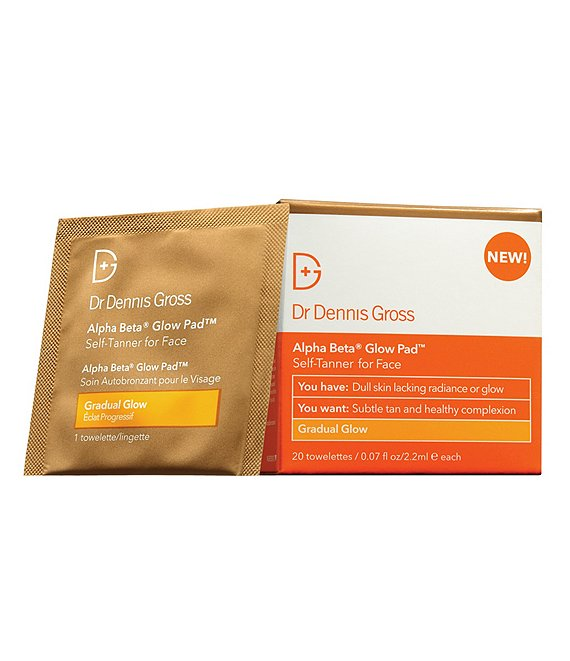 Dr. Dennis Gross Alpha Beta Glow Pad Self-Tanner for Face Gradual Glow