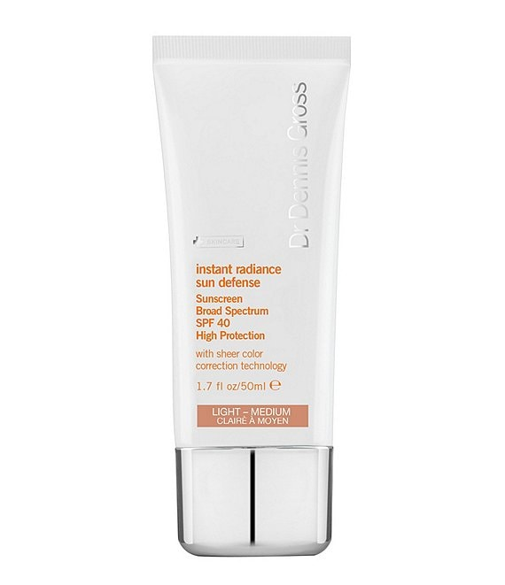 Color:Light Medium - Image 1 - Skincare Instant Radiance Sun Defense Sunscreen Broad Spectrum SPF 40