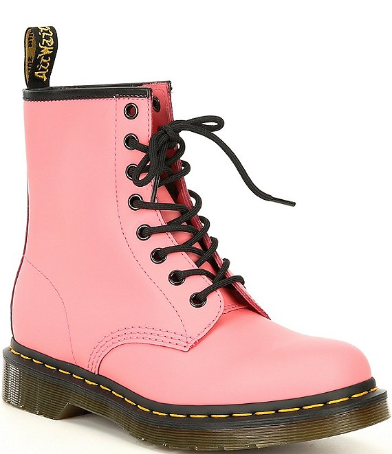 Color:Acid Pink - Image 1 - Women's 1460 Smooth Leather Combat Boots