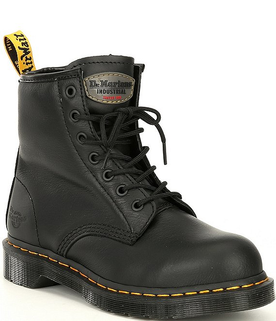 Color:Black - Image 1 - Women's Maple Zip Newark Steel Toe Work Boots