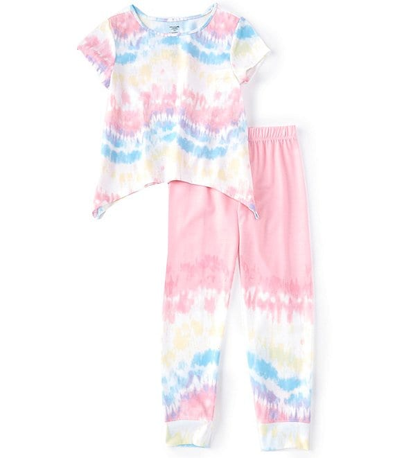 Dream Life Little/Big Girls 2T-16 Pastel Tie-Dye 2-Piece Pajamas Set