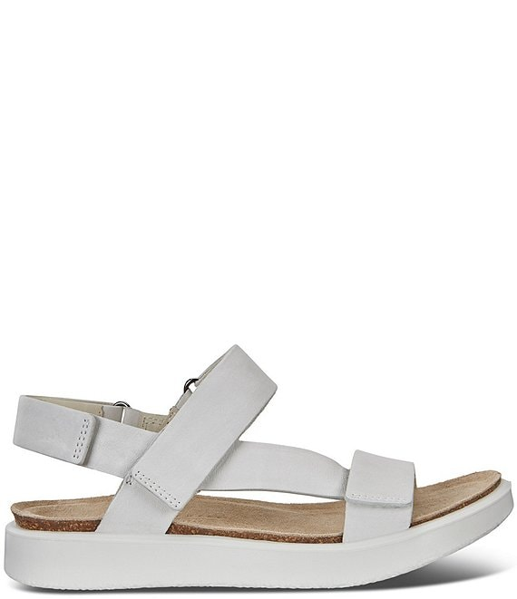54a863f337 ECCO Corksphere Leather Strap Sandals
