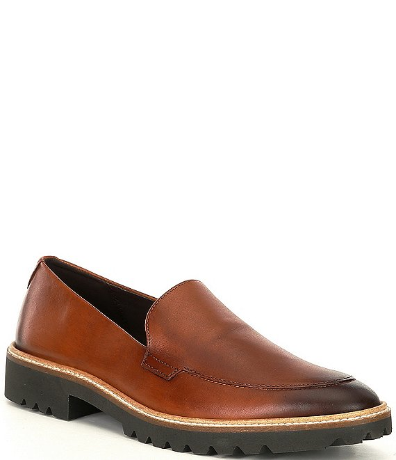 Color:Honey - Image 1 - Incise Tailored Leather Loafers