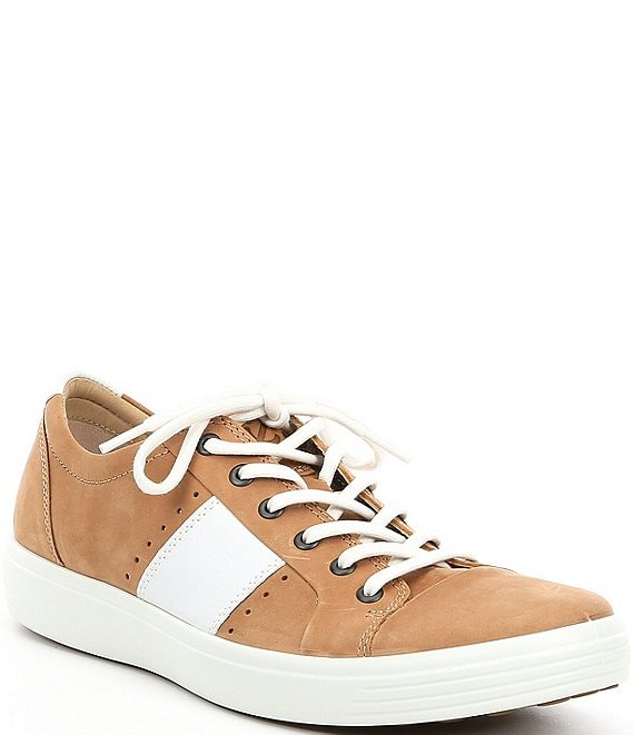 Color:Cashmere/White - Image 1 - Men's Soft 7 Leather Summer Sneaker