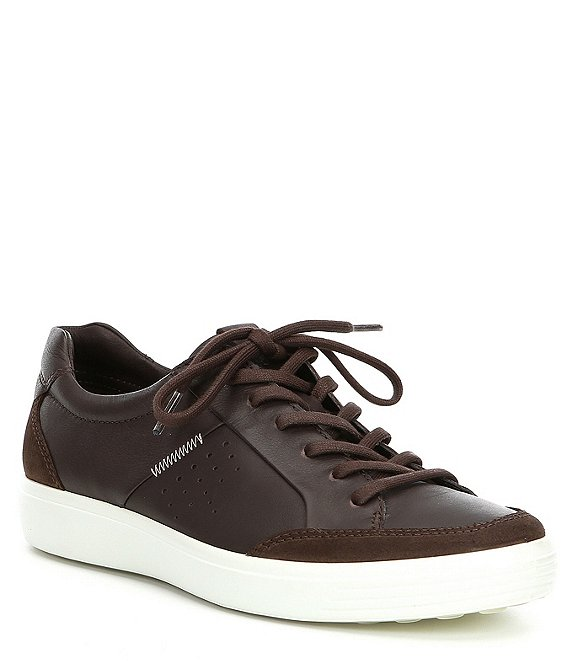 c7164603a3 ECCO Men's Soft VII Relaxed Leather Sneaker