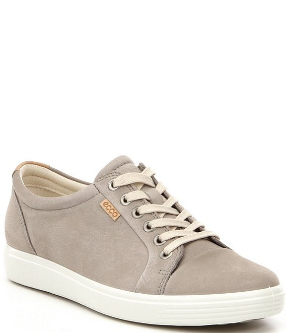 Color:Warm Grey Nubuck - Image 1 - Soft 7 Suede Leather Lace-Up Sneakers