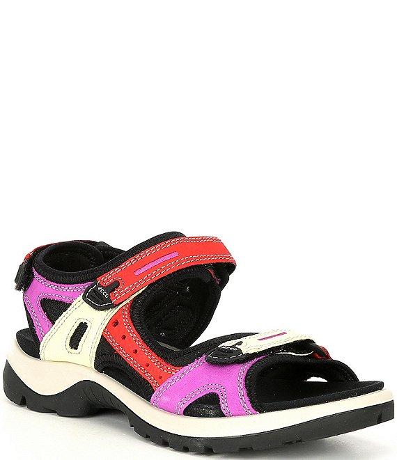 ECCO Women's Yucatan Offroad Multi Colored Banded Outdoor Sandals |  Dillard's