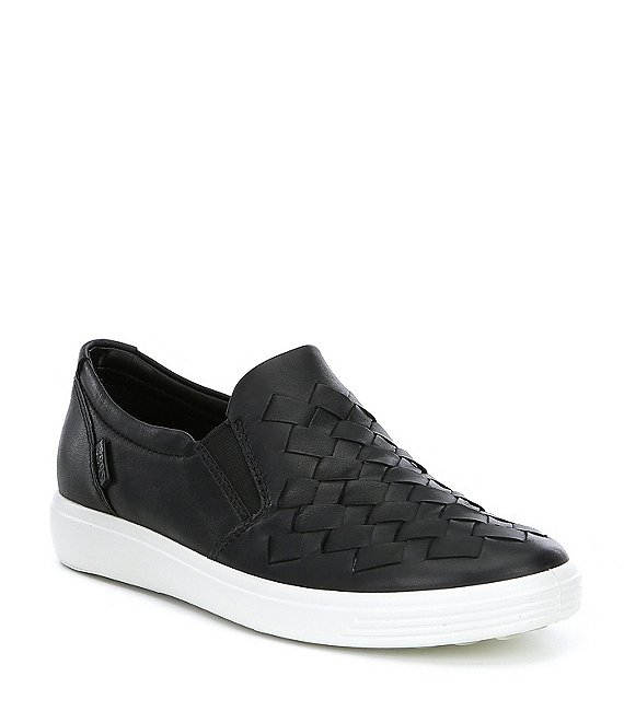 Color:Black - Image 1 - Women's Soft 7 Woven Slip-On Sneakers