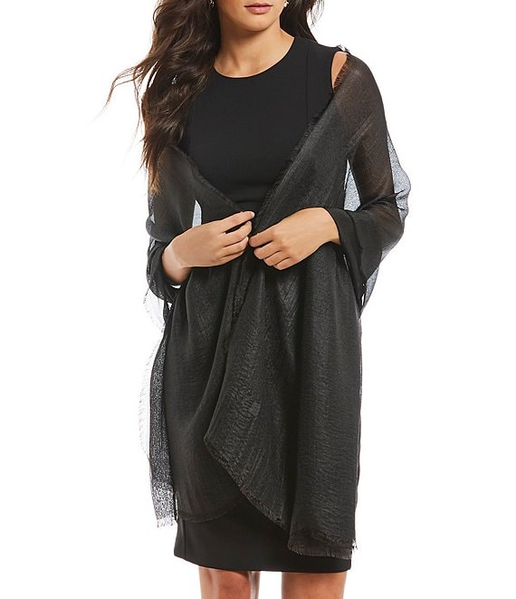 Color:Black - Image 1 - Radiance Evening Wrap